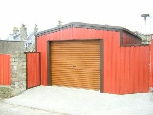 Red Colour Steel Building Self Build Kit